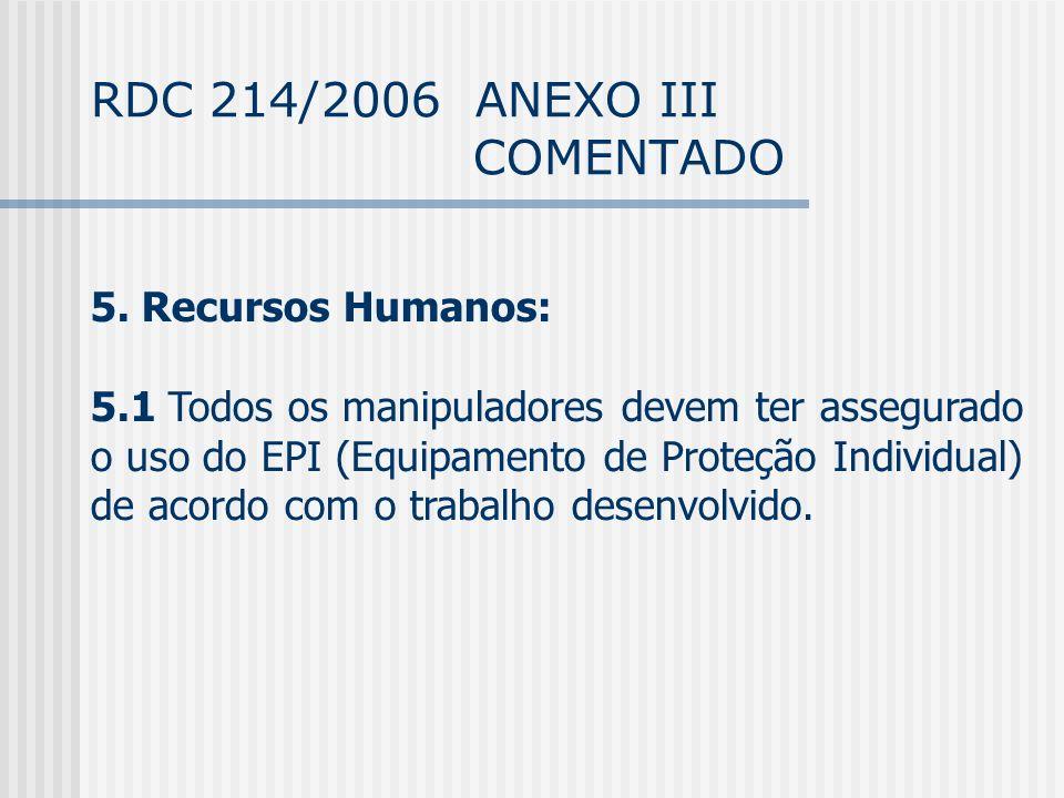 RDC 214/2006 ANEXO III COMENTADO