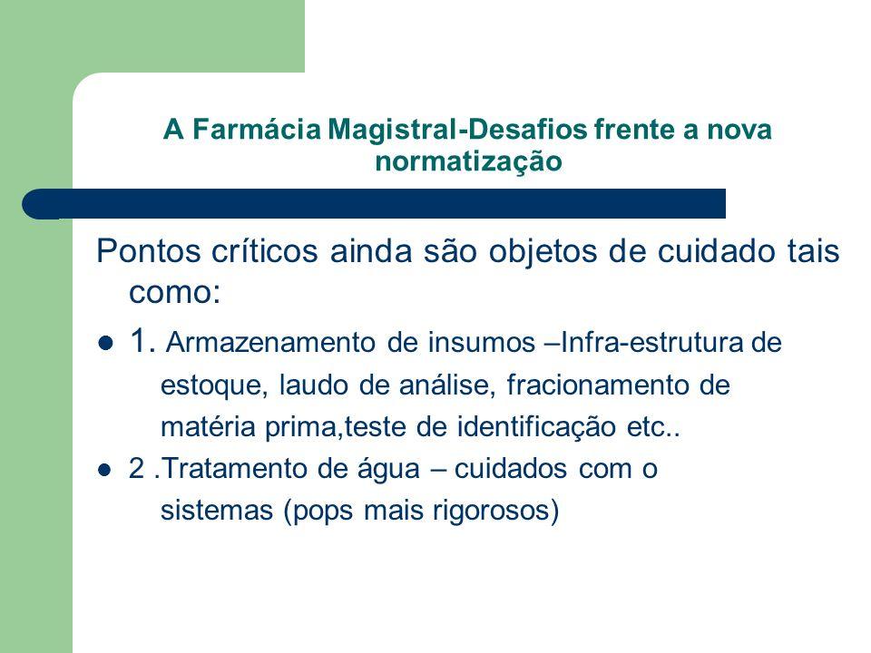 A Farmácia Magistral-Desafios frente a nova normatização