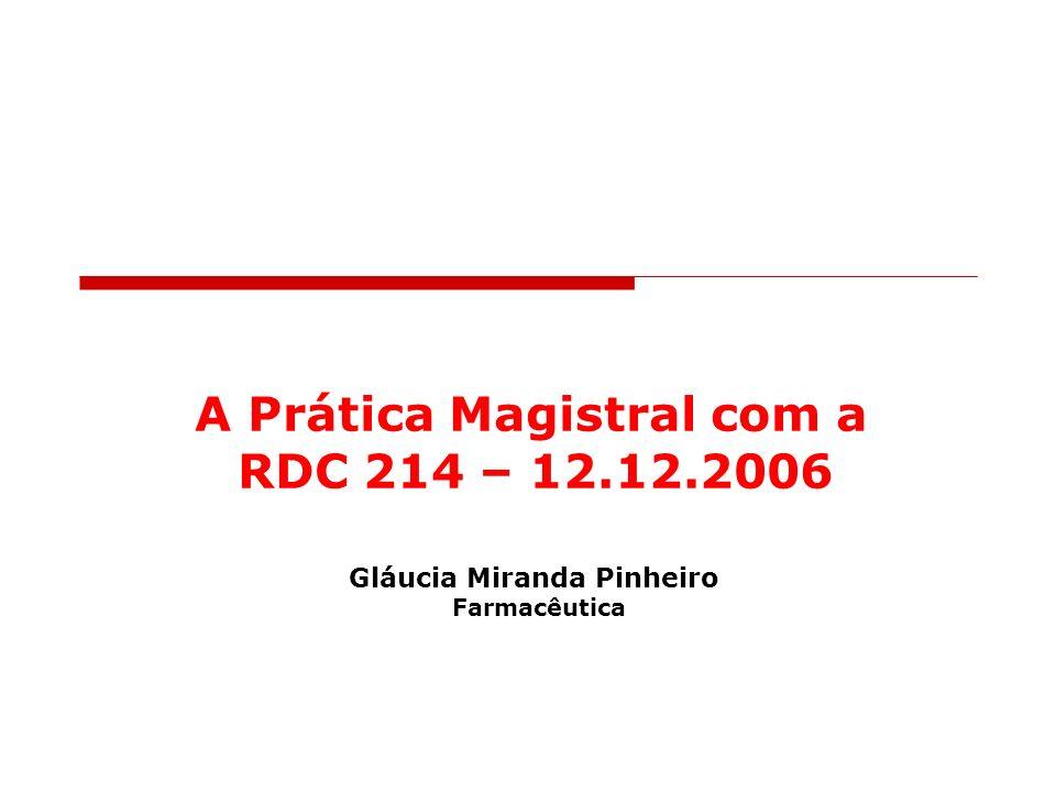 Gláucia M. Pinheiro Farmacêutica 2007