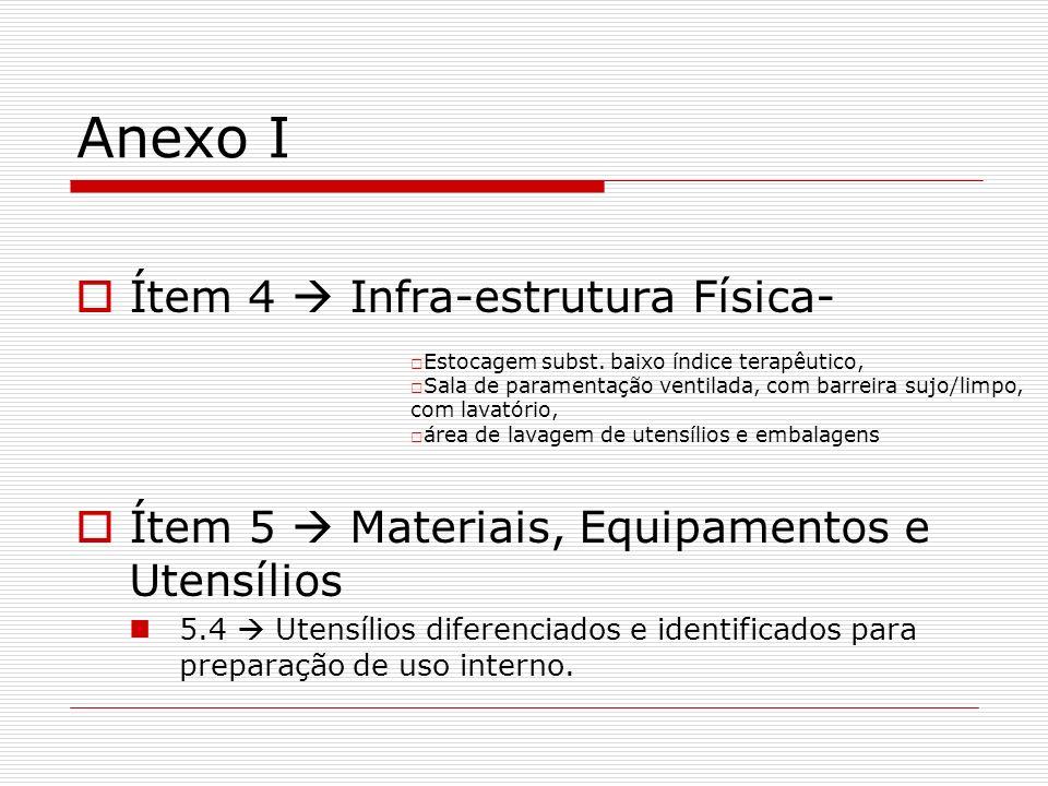 Anexo I Ítem 4  Infra-estrutura Física-