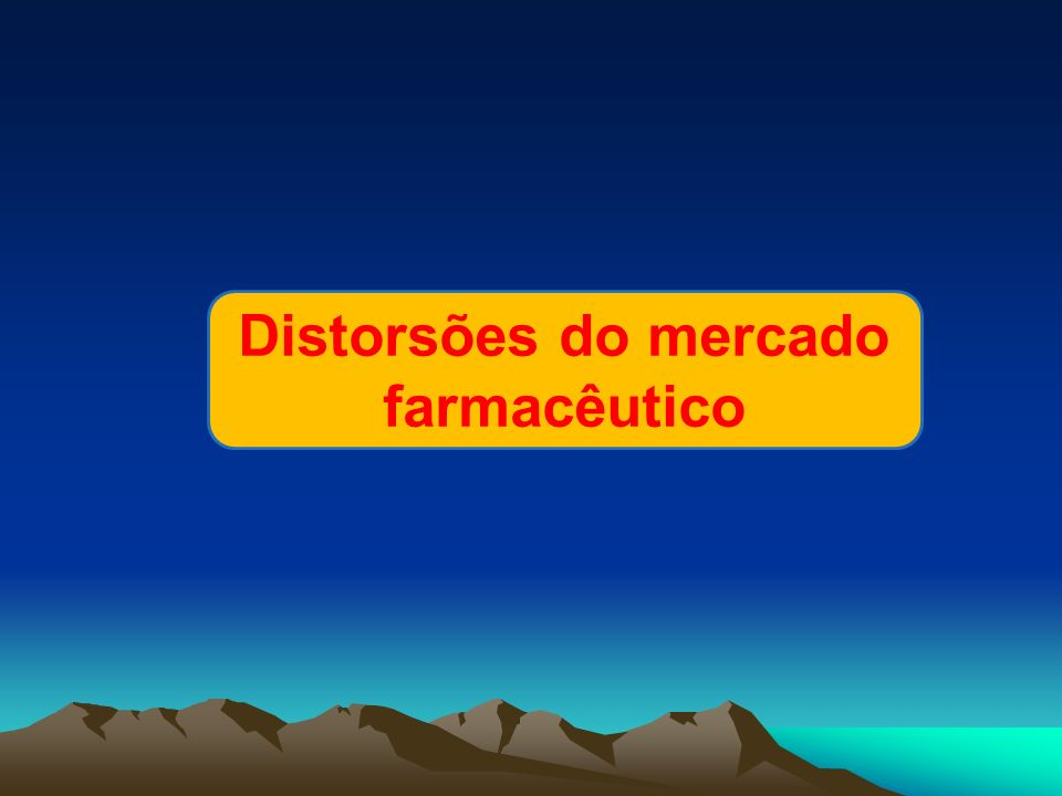 Distorsões do mercado farmacêutico