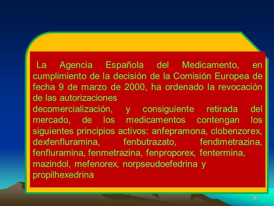 mazindol, mefenorex, norpseudoefedrina y propilhexedrina
