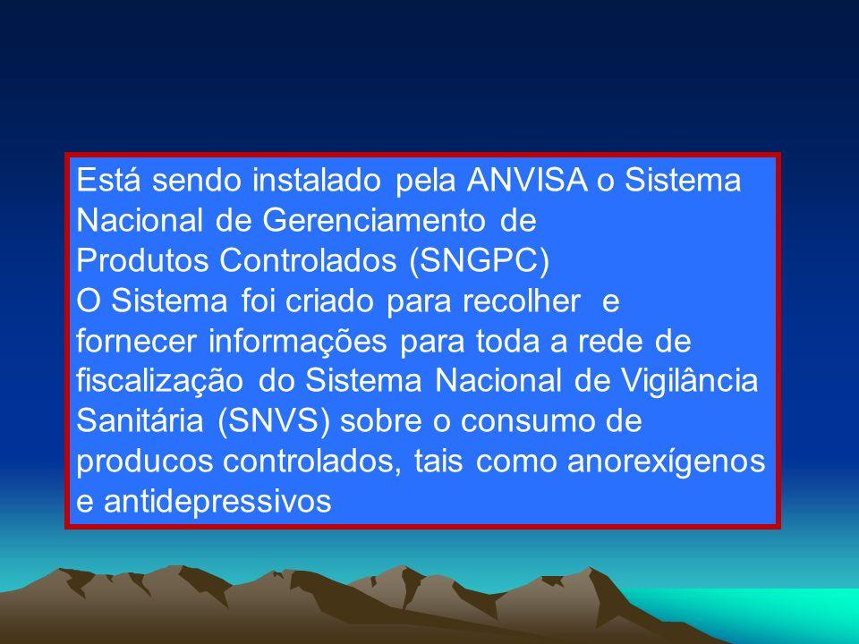 Está sendo instalado pela ANVISA o Sistema Nacional de Gerenciamento de
