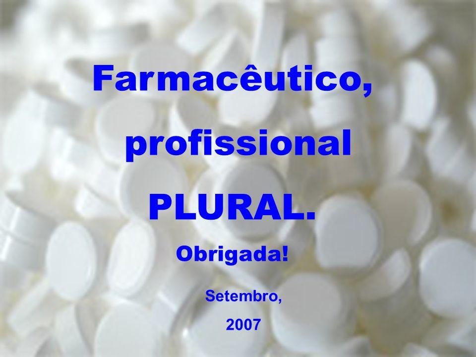 Farmacêutico, profissional PLURAL.
