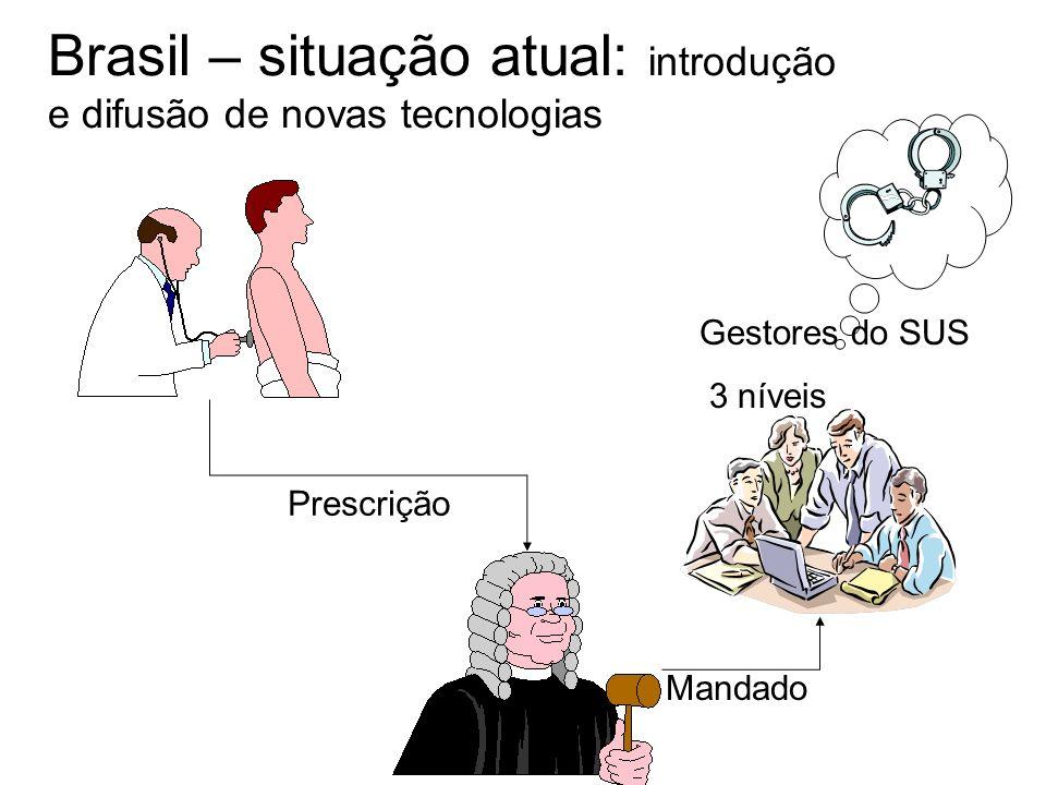 Brasil – situação atual: introdução e difusão de novas tecnologias