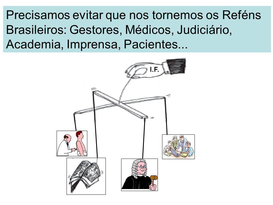 Precisamos evitar que nos tornemos os Reféns Brasileiros: Gestores, Médicos, Judiciário, Academia, Imprensa, Pacientes...