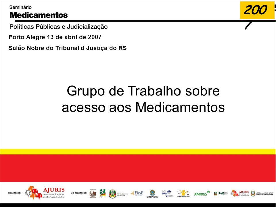 Grupo de Trabalho sobre acesso aos Medicamentos