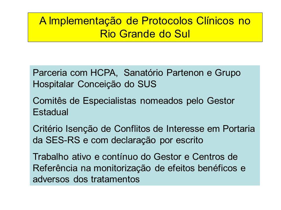 A lmplementação de Protocolos Clínicos no Rio Grande do Sul