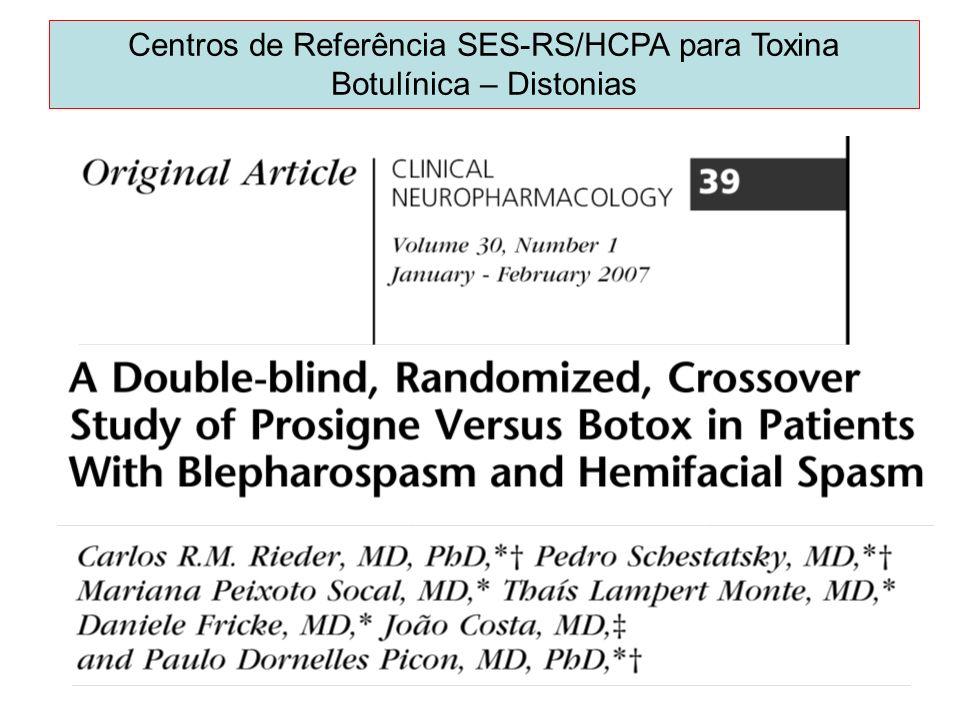 Centros de Referência SES-RS/HCPA para Toxina Botulínica – Distonias