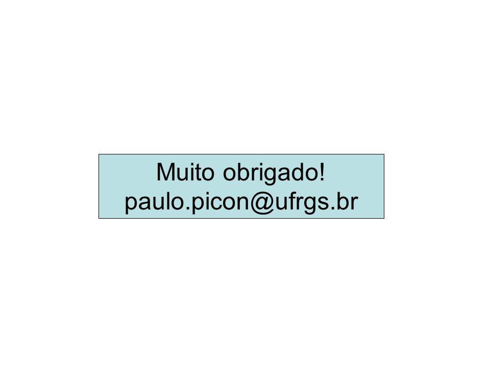Muito obrigado! paulo.picon@ufrgs.br