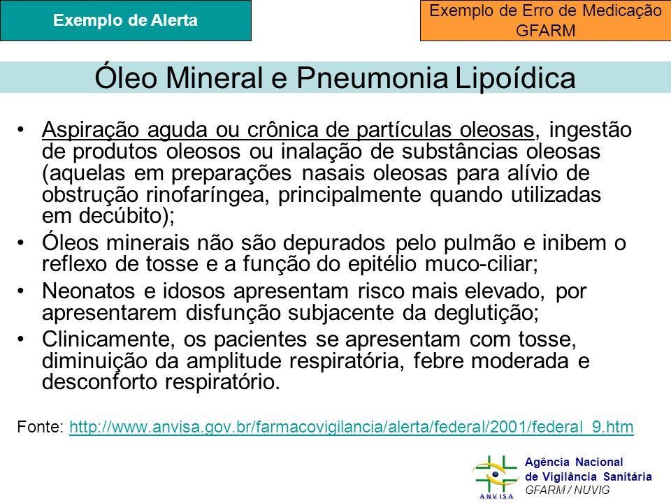 Óleo Mineral e Pneumonia Lipoídica