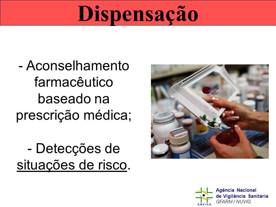 Dispensação Aconselhamento farmacêutico baseado na prescrição médica;