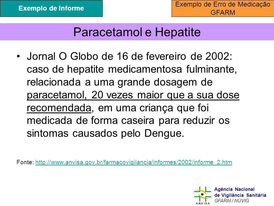 Paracetamol e Hepatite