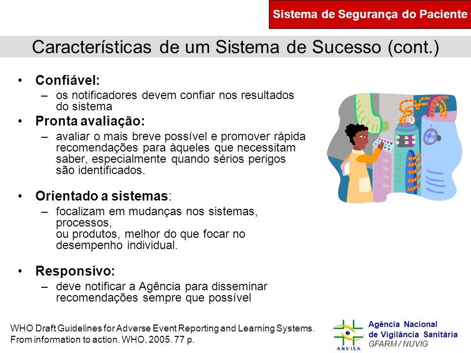 Características de um Sistema de Sucesso (cont.)