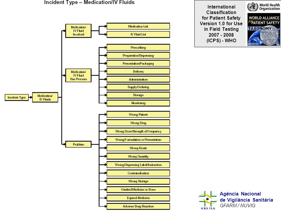 International Classification for Patient Safety Version 1