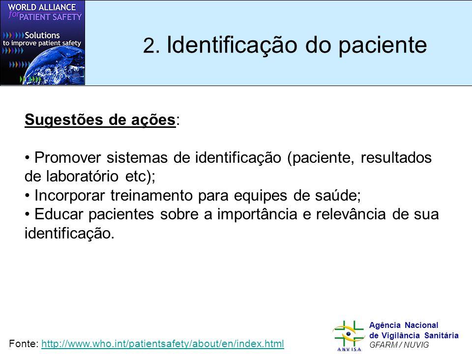 2. Identificação do paciente