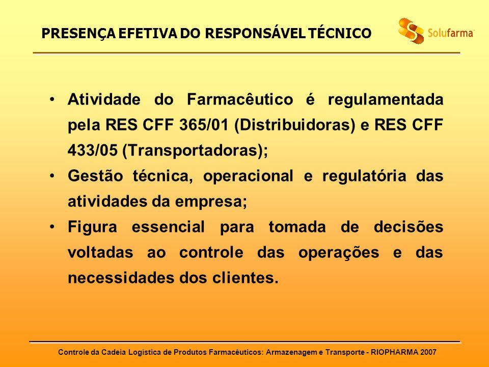 PRESENÇA EFETIVA DO RESPONSÁVEL TÉCNICO
