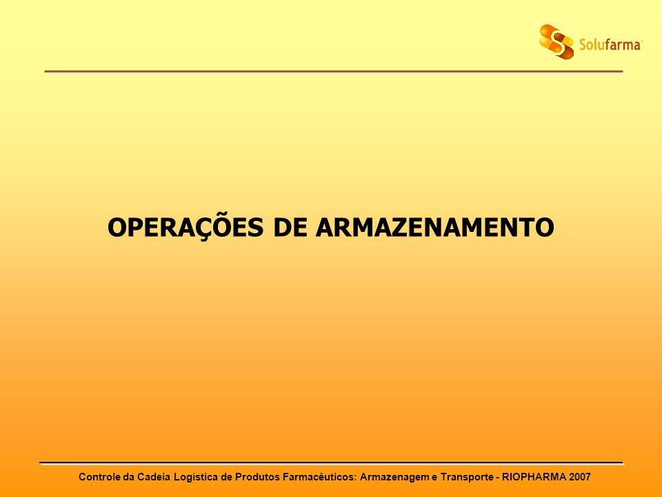 OPERAÇÕES DE ARMAZENAMENTO