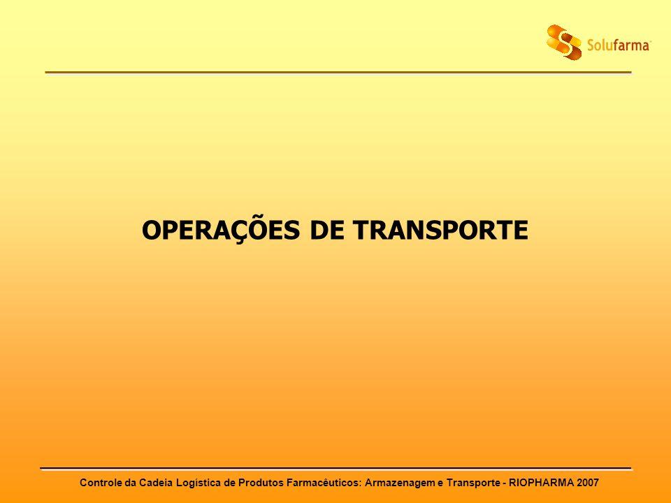OPERAÇÕES DE TRANSPORTE