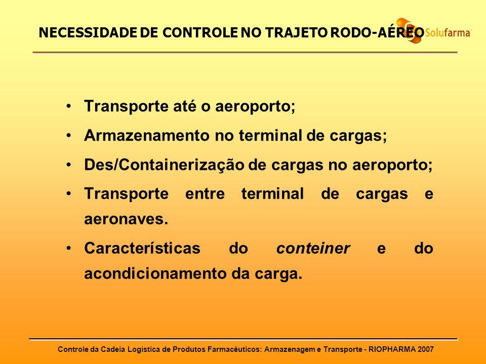 NECESSIDADE DE CONTROLE NO TRAJETO RODO-AÉREO