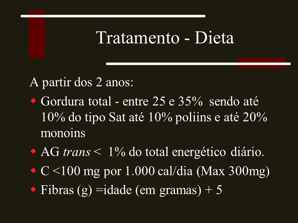 Tratamento - Dieta A partir dos 2 anos: