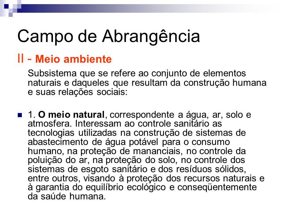 Campo de Abrangência II - Meio ambiente