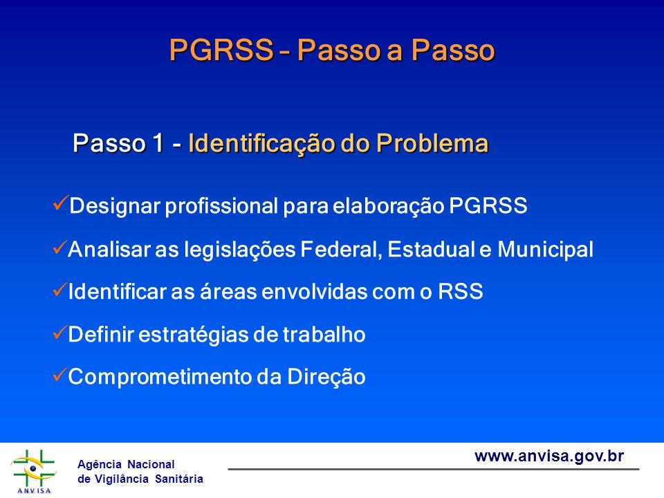 PGRSS – Passo a Passo Passo 1 - Identificação do Problema