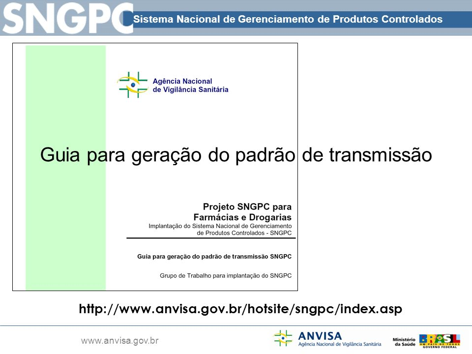Guia para geração do padrão de transmissão