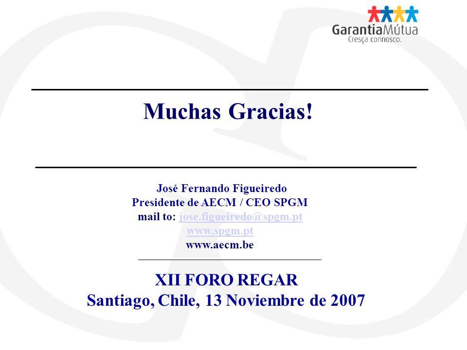 Muchas Gracias! XII FORO REGAR Santiago, Chile, 13 Noviembre de 2007