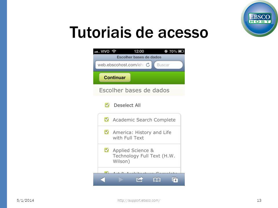 Tutoriais de acesso 24/03/2017 http://support.ebsco.com/