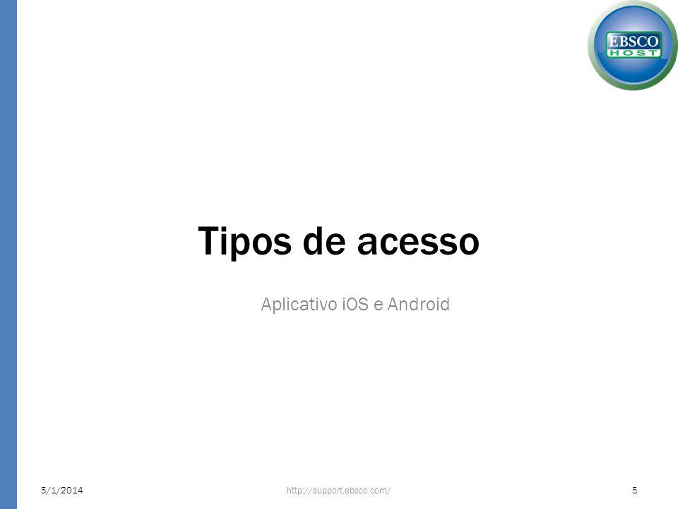 Aplicativo iOS e Android