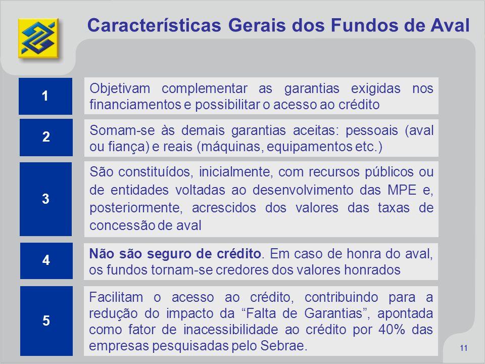 Características Gerais dos Fundos de Aval