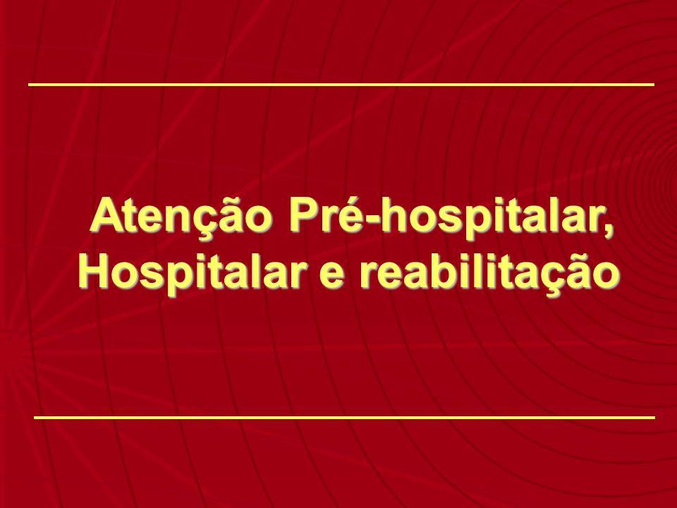 Atenção Pré-hospitalar, Hospitalar e reabilitação