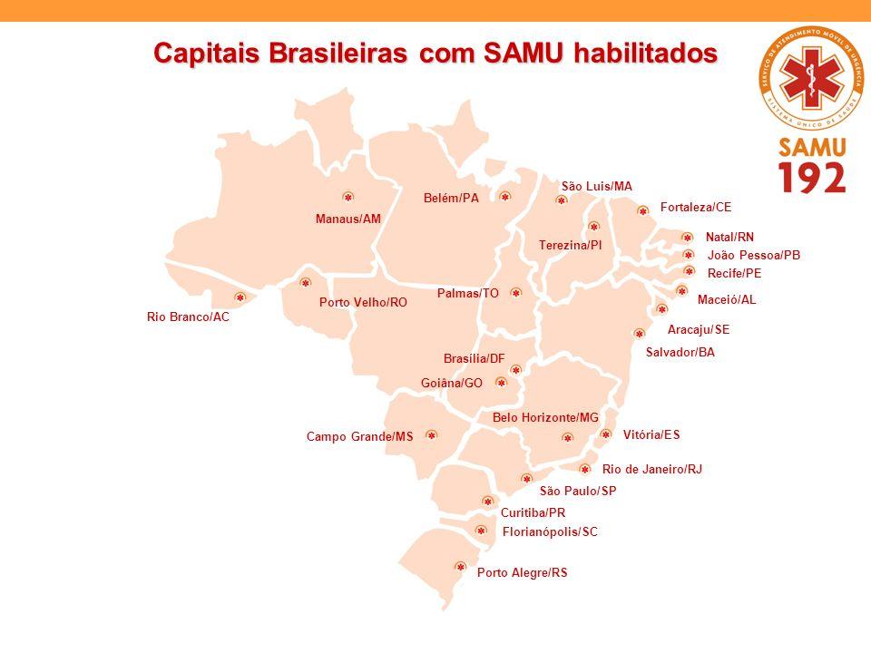 Capitais Brasileiras com SAMU habilitados