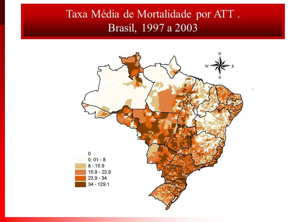Taxa Média de Mortalidade por ATT .