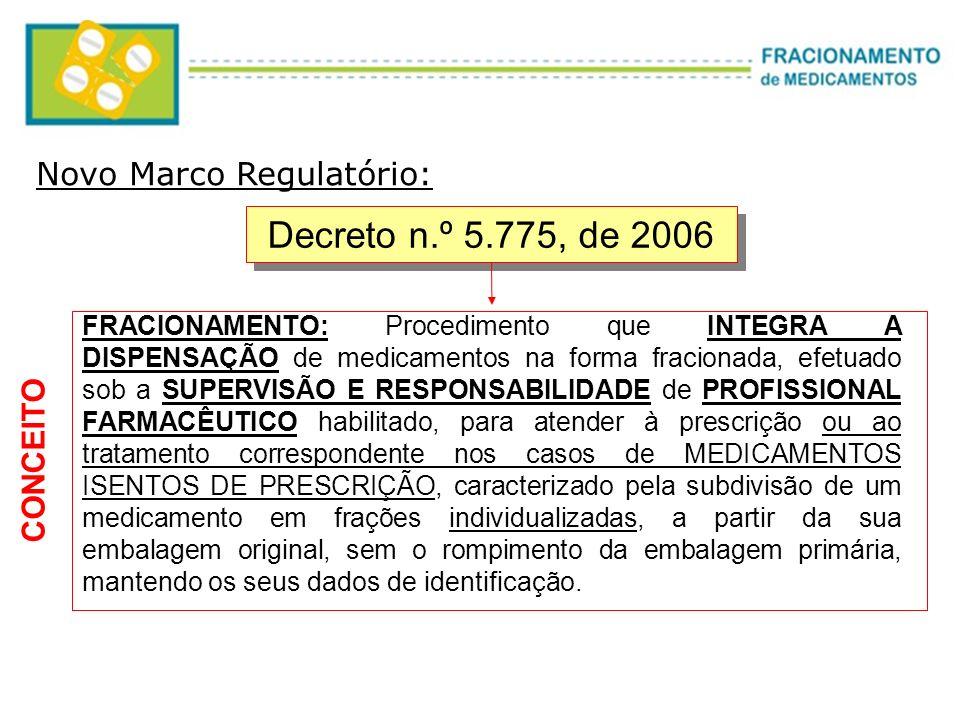 Decreto n.º 5.775, de 2006 Novo Marco Regulatório: CONCEITO