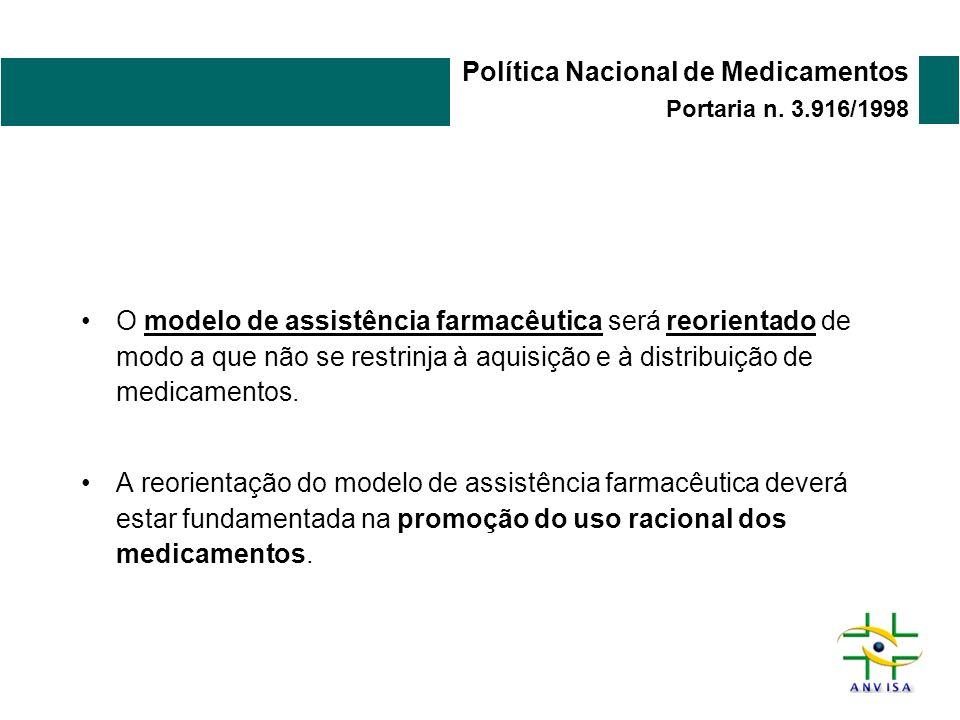 Política Nacional de Medicamentos Portaria n. 3.916/1998