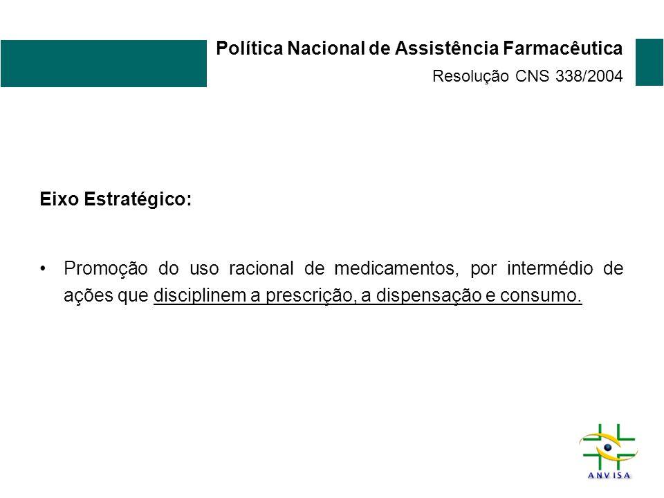 Política Nacional de Assistência Farmacêutica Resolução CNS 338/2004