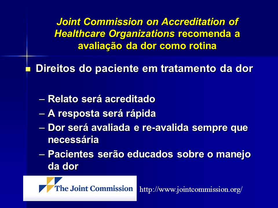 Direitos do paciente em tratamento da dor