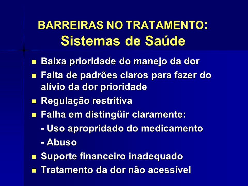 BARREIRAS NO TRATAMENTO: Sistemas de Saúde