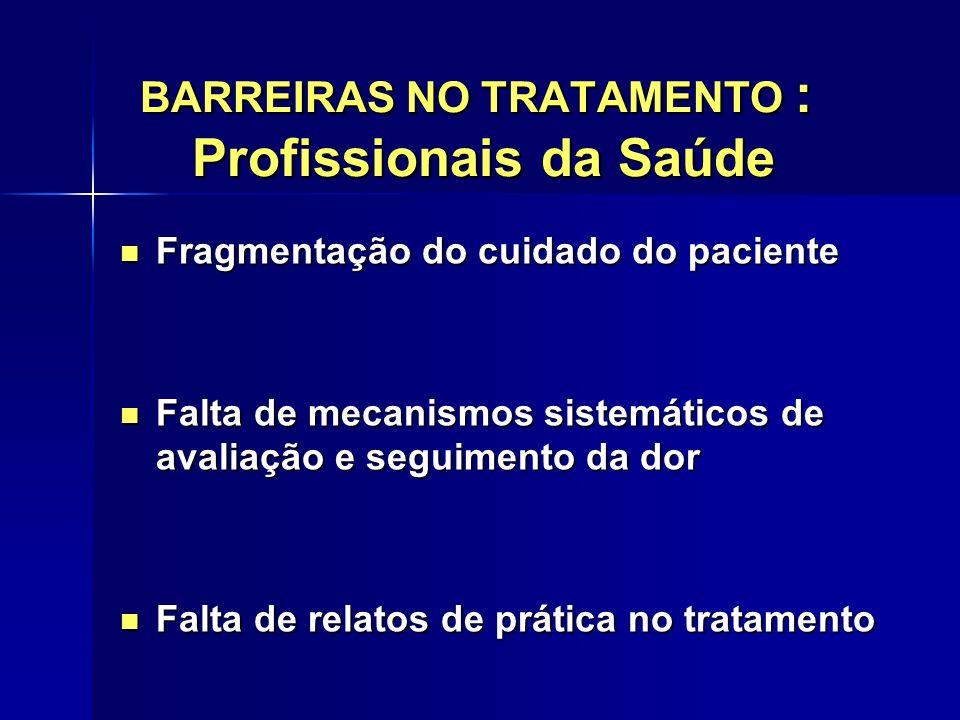 BARREIRAS NO TRATAMENTO : Profissionais da Saúde