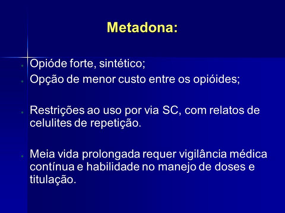 Metadona: Opióde forte, sintético;