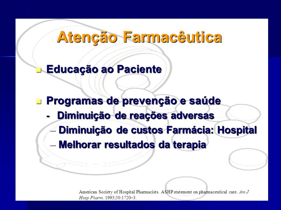 Atenção Farmacêutica Educação ao Paciente