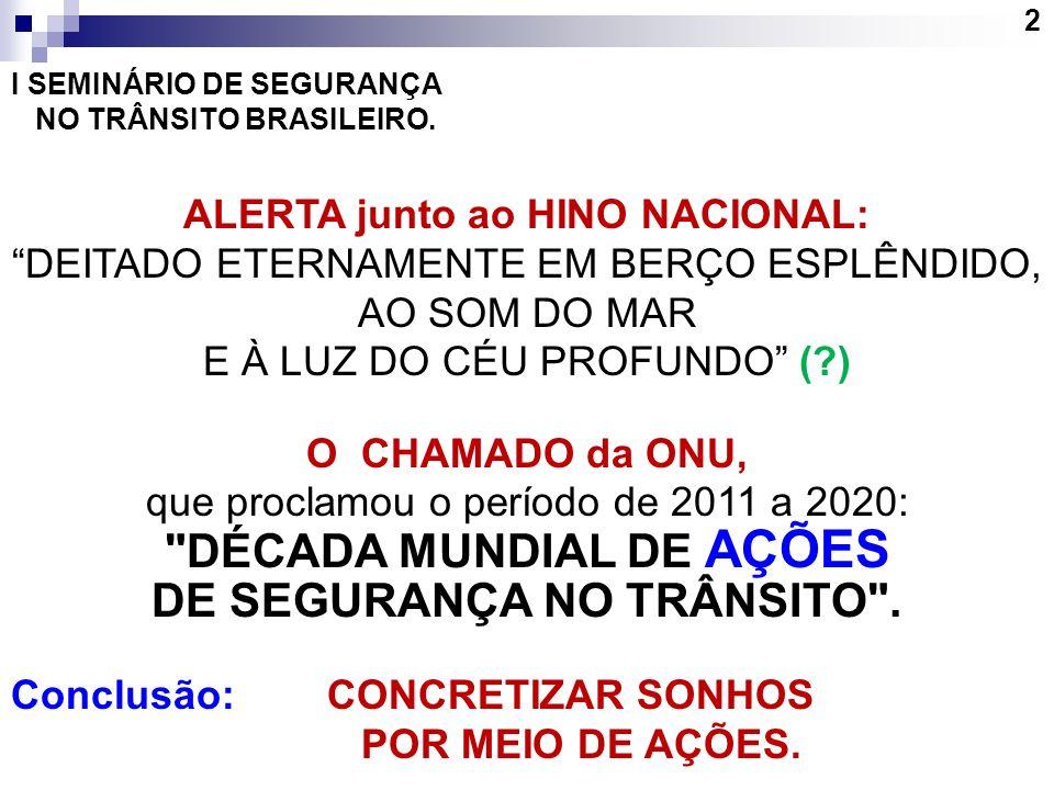 DÉCADA MUNDIAL DE AÇÕES DE SEGURANÇA NO TRÂNSITO .