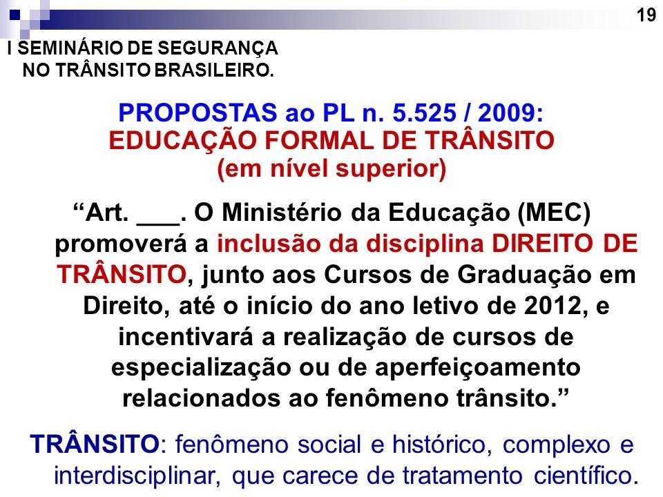 EDUCAÇÃO FORMAL DE TRÂNSITO