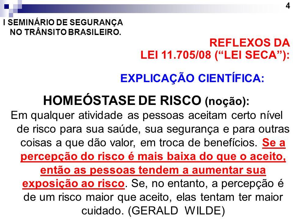 HOMEÓSTASE DE RISCO (noção):