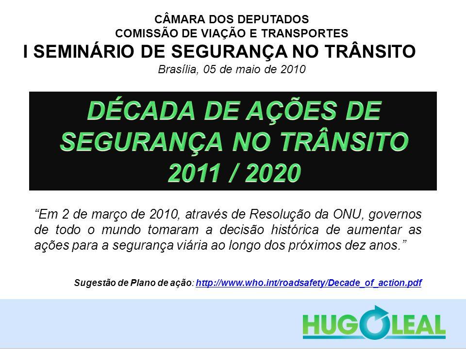 DÉCADA DE AÇÕES DE SEGURANÇA NO TRÂNSITO 2011 / 2020