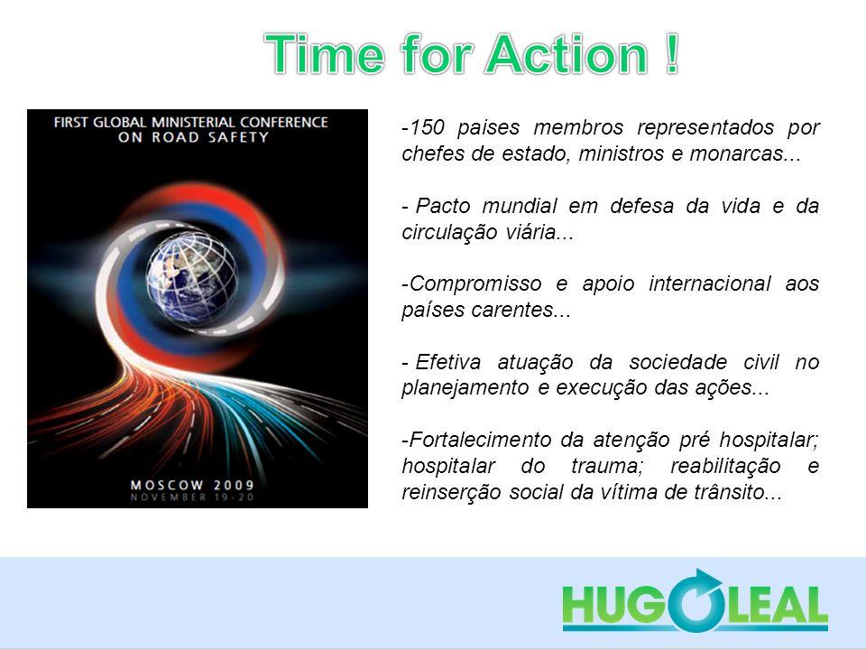 Time for Action ! 150 paises membros representados por chefes de estado, ministros e monarcas...