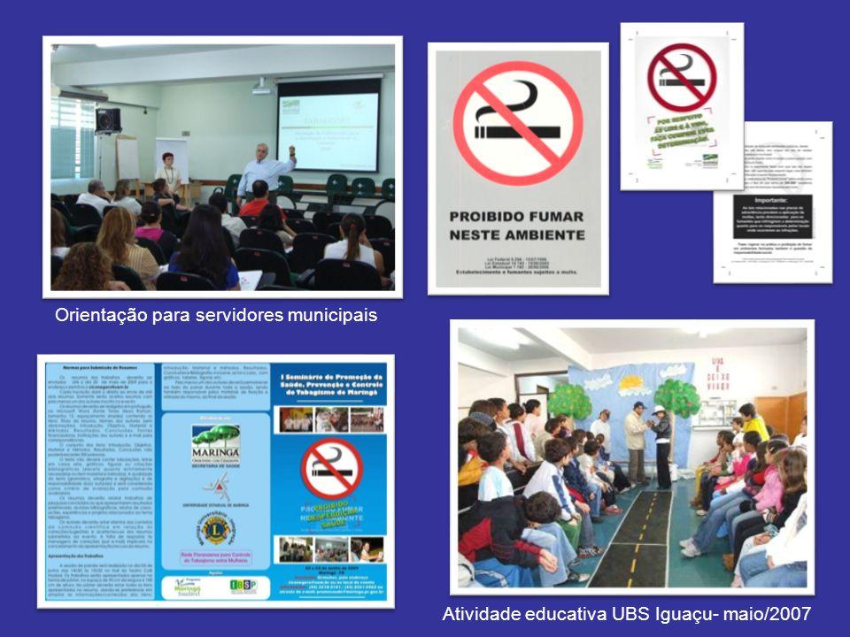 Atividade educativa UBS Iguaçu- maio/2007