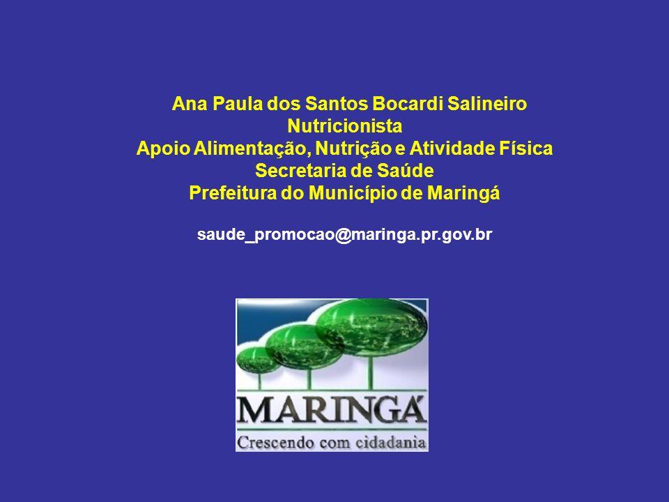 Ana Paula dos Santos Bocardi Salineiro Nutricionista